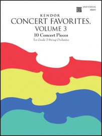 Kendor Concert Favorites, Volume 3 - 2nd Violin