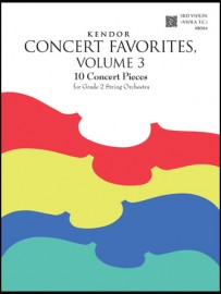 Kendor Concert Favorites, Volume 3 - 3rd Violin (Viola T.C.)