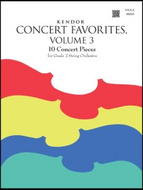 Kendor Concert Favorites, Volume 3 - Viola