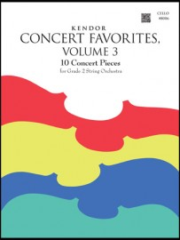 Kendor Concert Favorites, Volume 3 - Cello