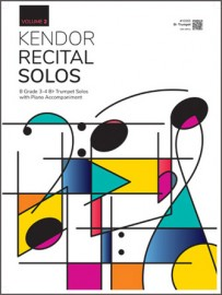 Kendor Recital Solos, Volume 2 - Bb Trumpet With Piano Accompaniment & MP3's