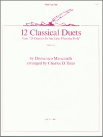 12 Classical Duets from 24 Duettos In An Easy, Pleasing Style