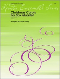 Christmas Carols For Sax Quartet - Eb Baritone Sax (Digital Download Only)